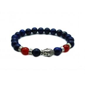 Lapis Lazuli Stone beads Yoga Buddha Tibetan Jewelry Men Bracelet