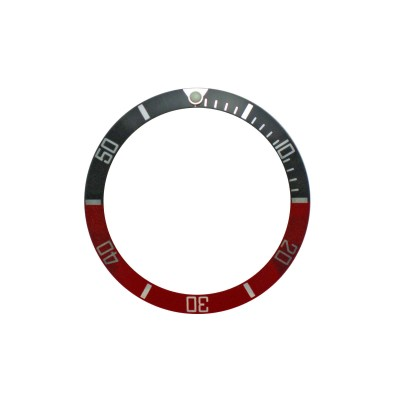 New High Quality Black & Red Aluminum Bezel Insert For Rolex Submariner & GMT