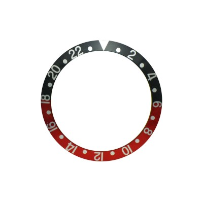 New High Quality Black & Red Bezel Insert For Rolex GMT Master I/II  & Submariner Watch