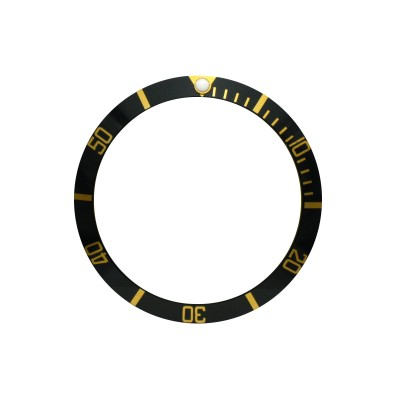 New High Quality Black With Gold Aluminum Bezel Insert For Rolex Submariner & GMT