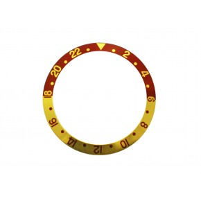 New High Quality Brown & Gold Bezel Insert For Rolex GMT Master I/II  & Submariner Watch