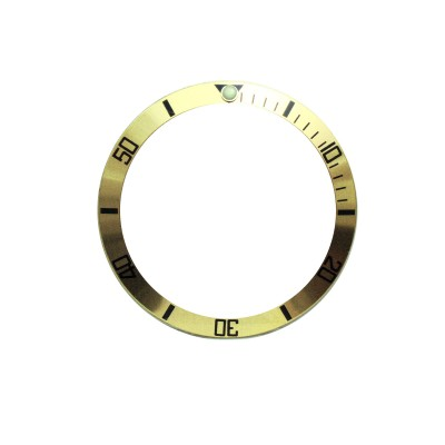 New High Quality Light Gold Aluminum Bezel Insert For Rolex Submariner & GMT