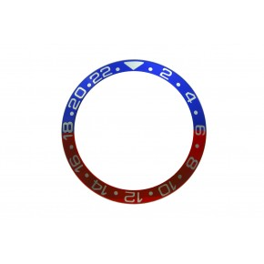 High Quality Pepsi Blue & Red With Silver Numbers Aluminum Bezel Insert For Rolex GMT Master II Watch