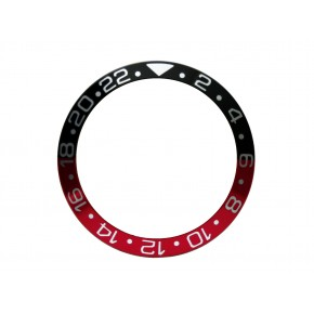 High Quality Black & Red With Silver Numbers Aluminum Bezel Insert For Rolex GMT Master II Watch