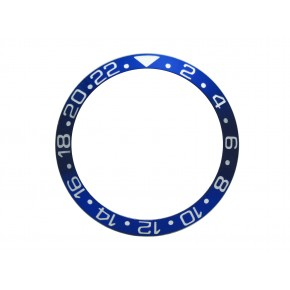High Quality Blue With Silver White Numbers Aluminum Bezel Insert For Rolex GMT Master II Watch