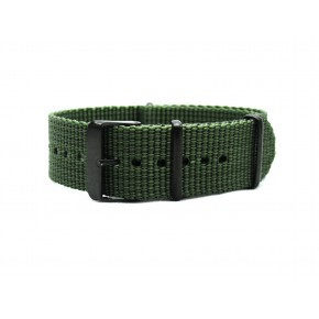 HNS Olive Drab Heavy Duty Ballistic Nylon Watch Strap With PVD Coated Stainless Steel Buckle