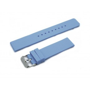 HNS Baby Blue Silicone Rubber Waterproof Watch Strap With Polished Stainless Steel Buckle