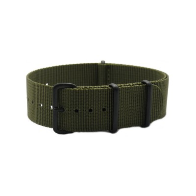 HNS Olive Drab Heavy Duty Ballistic Nylon Watch Strap With PVD Matt Coated Stainless Steel Buckle
