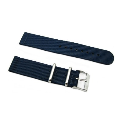 HNS 2 Pieces Navy Heavy Duty Ballistic Nylon Watch Strap With Stainless Steel Buckle