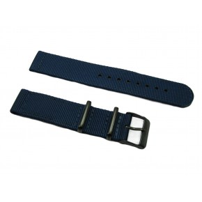 HNS 2 Pieces Navy Heavy Duty Ballistic Nylon Watch Strap With PVD Coated Stainless Steel Buckle