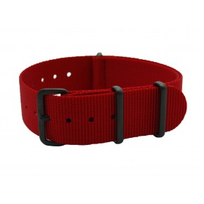 HNS Red Heavy Duty Ballistic Nylon Watch Strap With PVD Coated Stainless Steel Buckle