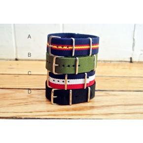 HNS 4Pcs Heavy Duty Ballistic Nylon Watch Strap Package Sale