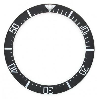 BLACK WITH WHITE NUMBERS CERAMIC BEZEL FOR DEEP SEA STYLE WATCH