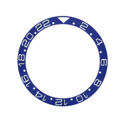 BLUE WITH WHITE NUMBERS CERAMIC BEZEL FOR GMT II MASTER WATCH