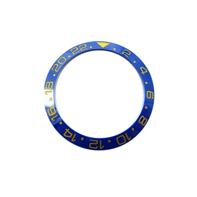 BLUE WITH GOLDEN NUMBERS CERAMIC BEZEL FOR GMT II MASTER WATCH