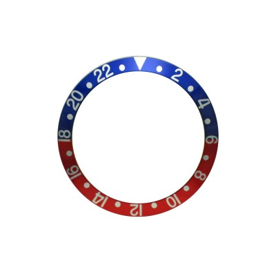 New High Quality Blue & Red Bezel Insert For Rolex GMT Master I/II  & Submariner Watch