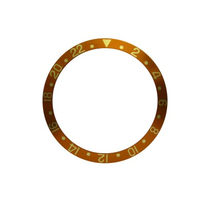 New High Quality Yellow Brown Bezel Insert For Rolex GMT Master I/II  & Submariner Watch