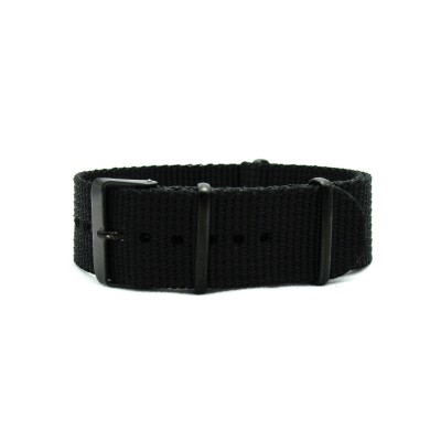 HNS Black Heavy Duty Ballistic Nylon Watch Strap With PVD Coated Stainless Steel Buckle