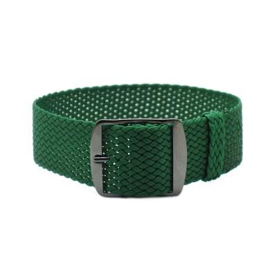 HNS Green Perlon Tropic Braided Woven Strap With PVD Coated Stainless Steel Buckle