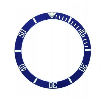 BLUE WITH WHITE NUMBERS CERAMIC BEZEL FOR SUBMARINER STYLE WATCH