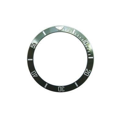 GREEN WITH WHITE NUMBERS CERAMIC BEZEL FOR SUBMARINER STYLE WATCH