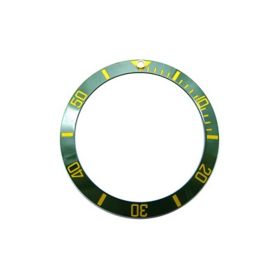 GREEN WITH GOLDEN NUMBERS CERAMIC BEZEL FOR SUBMARINER STYLE WATCH